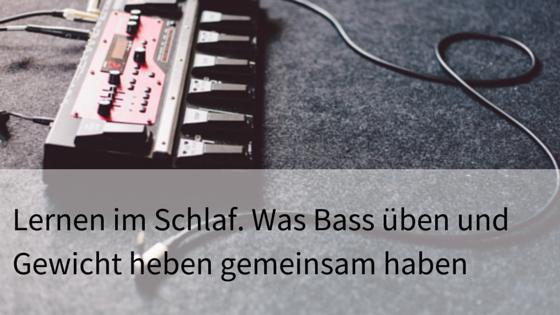 bass üben