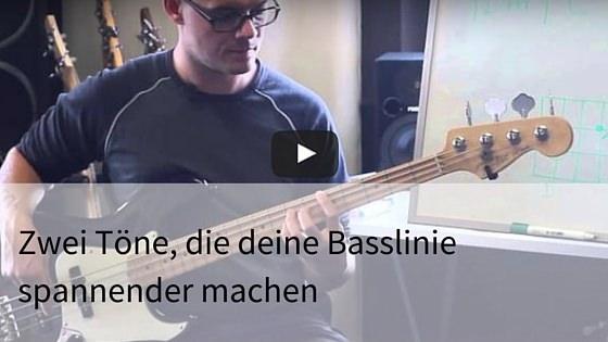 Basslinie spannend kreativ